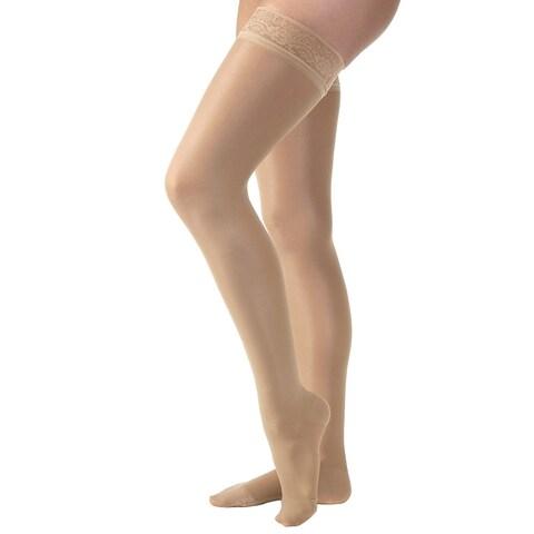 Women's Jobst Ultrasheer Thigh High Mild Support Hose Stockings - Black Beige or Bronze