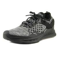 Puma Ignite evoKNIT Lo Pavement  Black-Asphalt-Quiet Shade Running Shoes