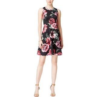 Jessica Simpson Womens Casual Dress Scuba Floral Print - 6