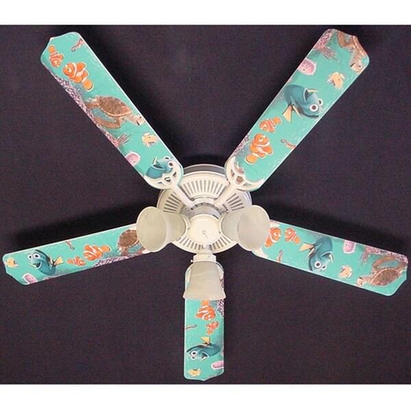 Disney's Nemo and Friends Print Blades 52in Ceiling Fan Light Kit - Multi