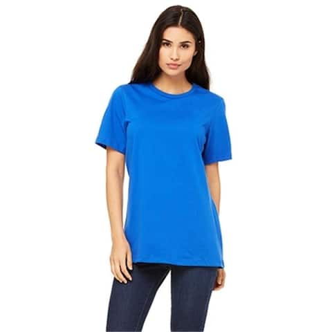 Bella 6400 Womens Relaxed Jersey Short Sleeve Tee - True Royal Extra Large