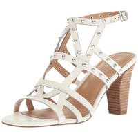 Franco Sarto Womens Calesta Leather Open Toe Casual Strappy Sandals
