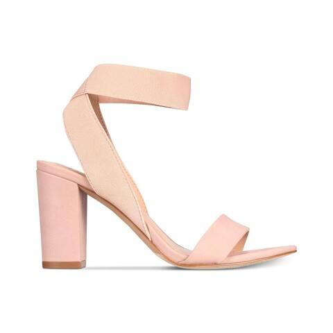 INC International Concepts Womens Kiernan Fabric Open Toe Ankle Strap Classic Pumps