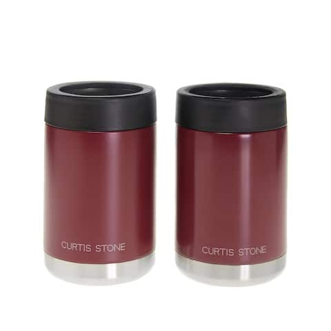 Curtis Stone Set of 2 12 oz. Double-Wall Insulated Koozies