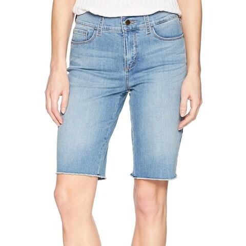 NYDJ Blue Womens Size 2 Tummy Control Bermuda Walking Cutoff Shorts