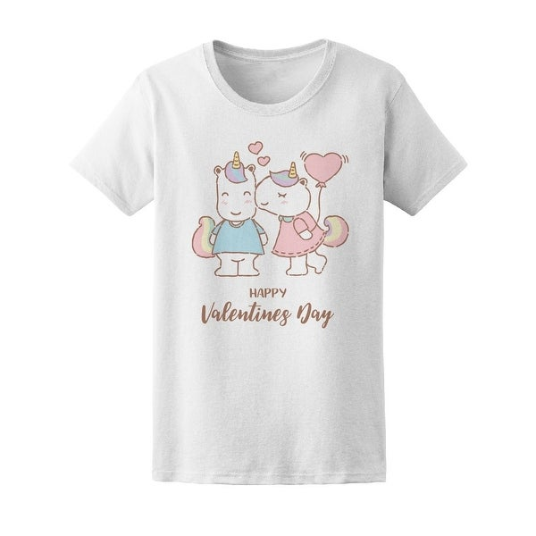 Shop Unicorn Kissing Her Boyfriend Tee Women S Image By