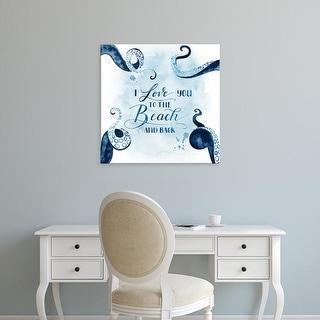 Easy Art Prints Grace Popp's 'Sea Lovers IV' Premium Canvas Art
