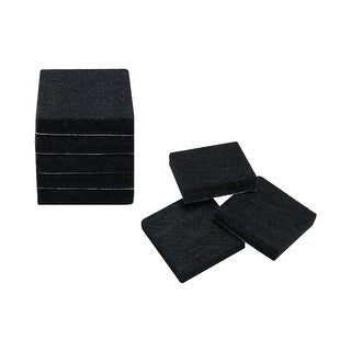 "8pcs Furniture Felt Pads Square 7/8"" Self-stick Non-slip Anti-scratch Pad for Closet Cabinet Chair Feet Floor Protector Black"