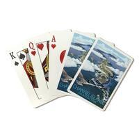 Channel Islands CA Bird's Eye View - LP Artwork (Poker Playing Cards Deck)