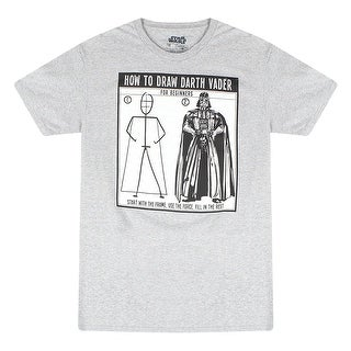 Star Wars How to Draw Darth Vader Men's Grey T-shirt