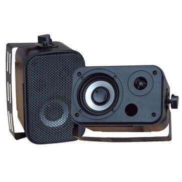 3.5'' Indoor/Outdoor Waterproof Speakers (Black)