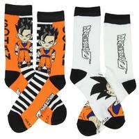 Dragon Ball Z Anime Goku Gohan 2 Pack Unisex Crew Socks-One Size Fits Most