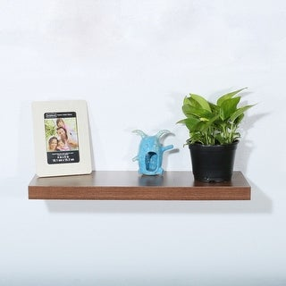 Modern and Contemporary JD Walnut Floating Shelf - 23.62*9.25*1.5 inches - 23.62*9.25*1.5 inches