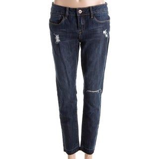Dollhouse Womens Juniors Lucy Skinny Jeans Denim Distressed - 7