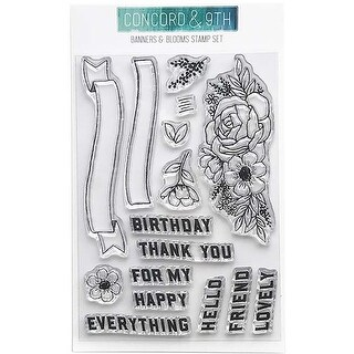 """Banners & Blooms - Concord & 9Th Clear Stamps 4""""X6"""""""