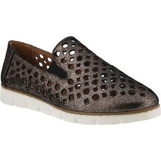 Spring Step Women's Kavala Loafer Pewter Metallic Leather