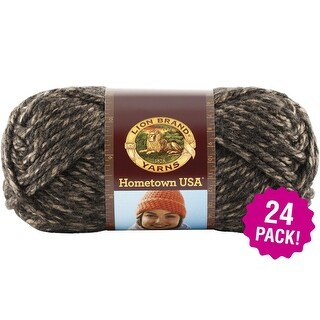 Lion Brand Hometown Usa Yarn 24/Pk-Little Rock Granite
