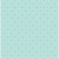 Brewster 2625-21839 Kinetic Turquoise Geometric Floral Wallpaper - turquoise geometric floral