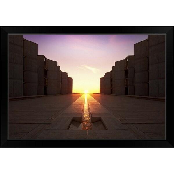 """Salk Equinox in La Jolla, California"" Black Framed Print"