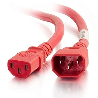 C2g 17565 C13-C14 Power Extension 14Awg 10Ft Red