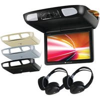 """Planet Audio P11.2Es 11.2"""" Ceiling-Mount Tft Dvd Player With Built-In Ir Transmitter, Fm Modulator & 3 Color Housings"""