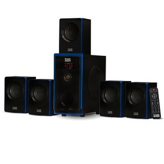 Acoustic Audio AA5102 Home Theater 5.1 Speaker System Surround Sound Multimedia