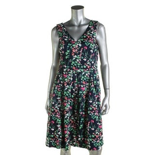 Nine West Womens Casual Dress Floral Print Pleated