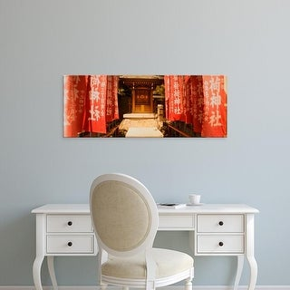Easy Art Prints Panoramic Images's 'Entrance of a shrine lined with flags, Tokyo Prefecture, Japan' Premium Canvas Art