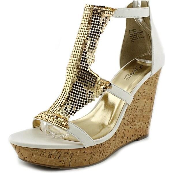 Thalia Sodi Sauco Open Toe Synthetic Wedge Heel