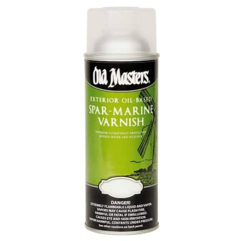 Old Masters 92310 Oil Based Spar Marine Spray Can, 12.8 Oz, Satin