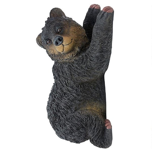"13"" Bear Cub Climbing A tree Sculpture - N/A"