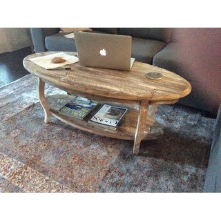 Alaterre Rustic Reclaimed Wood Oval Coffee Table Free Shipping Today 16806848