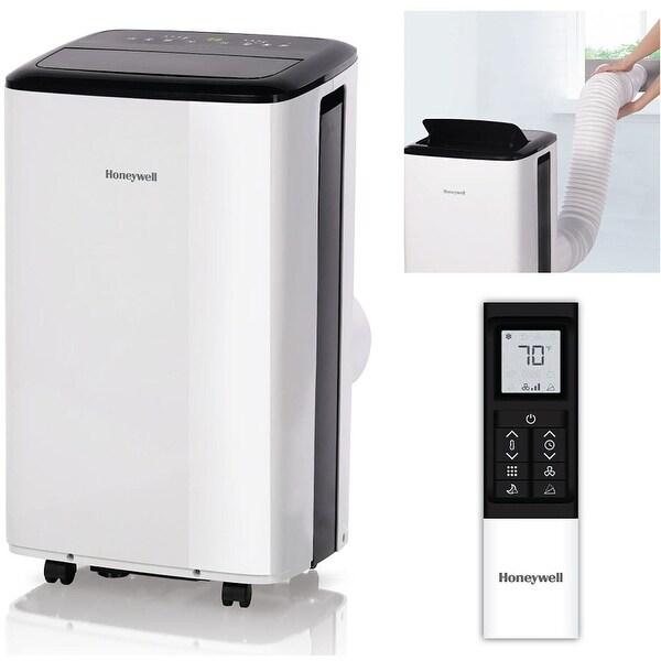 Honeywell 8000 BTU Smart Wi-Fi Portable Air Conditioner, Dehumidifier - Black/White. Opens flyout.