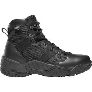 "Danner Men's Scorch Side Zip 6"" Tactical Boot Black Leather/Textile"