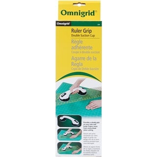 Omnigrid Double Suction Cup Ruler Grip-White