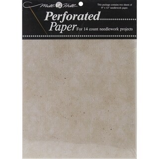 """Stylized Perforated Paper 14 Count 9""""X12"""" 2/Pkg-Natural Gran"""