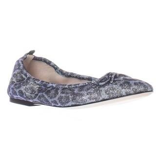 SJP Gelsey Ma Stretch Glitter Ballet Flats - Blue