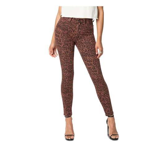 JOE'S Womens Brown Animal Print Skinny Jeans Size 26