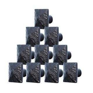 10 Cabinet Knobs Square Black Iron 1 1/4 D