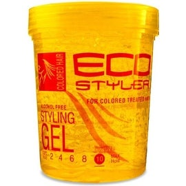ECOCO EcoStyler Styling Gel Color Treated, Yellow 32 oz