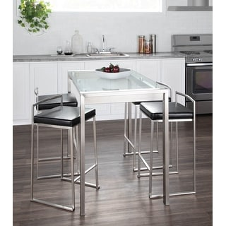 Link to Silver Orchid Forrest Metal/ Padded Stackable Counter Stool (Set of 2) Similar Items in Dining Room & Bar Furniture