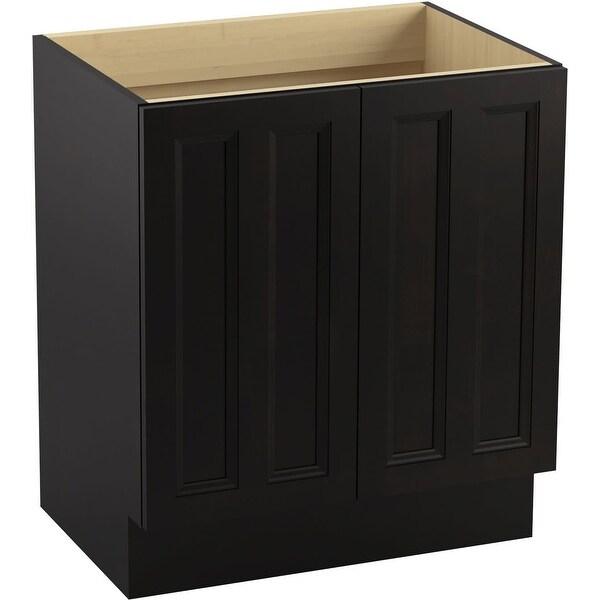 """Kohler K-99515-TK Damask 30"""" Vanity Cabinet Only - Toe Kick Installation Type - Linen White"""