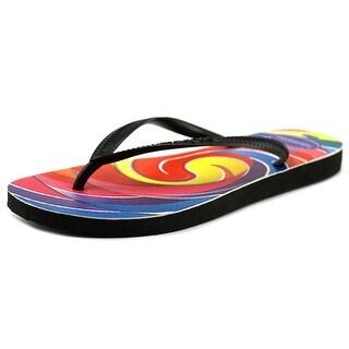 Havaianas Dylan's Candy Bar Swirl Women Synthetic Black Flip Flop Sandal