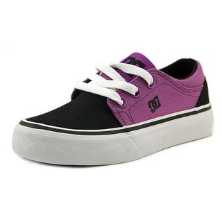 DC Shoes Trase TX Youth Round Toe Canvas Purple Skate Shoe
