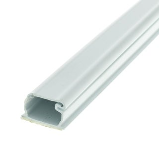 Offex 1.75 inch Surface Mount Cable Raceway, White, Straight 6 foot Section
