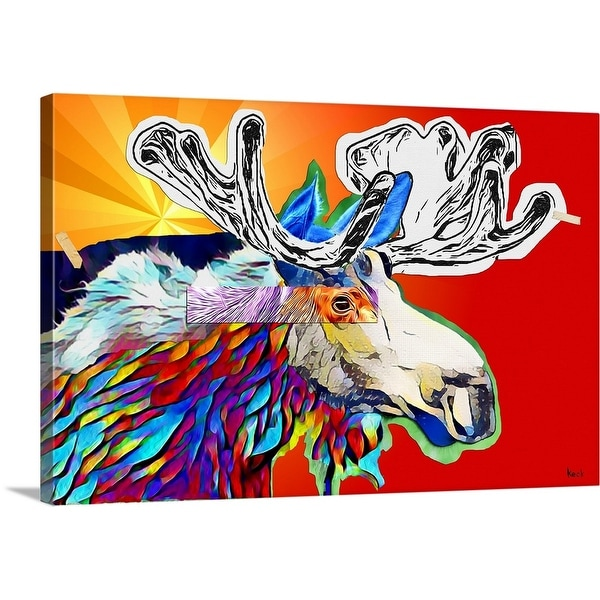 """Moose 1"" Canvas Wall Art"