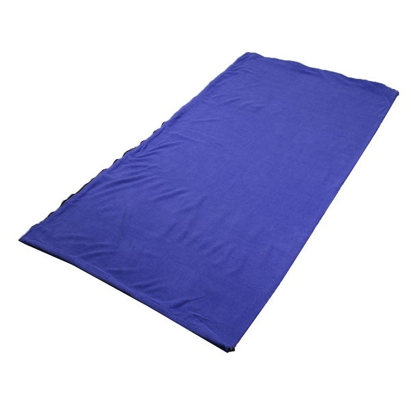 Outdoor Climbing Activities Foldable Zipper Closure Sleeping Bag Dark Blue
