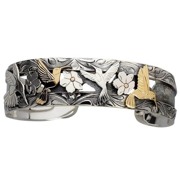 Vogt Western Women Bracelet Sterling Hummingbirds Silver Gold 014-140 - silver gold