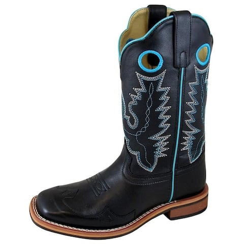 Smoky Mountain Western Boots Womens Marianna Square Pull On Black