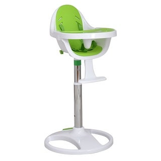 Costway Green Pedestal Baby High Chair Infant Durable Feeding Dining Table Safety Seat